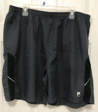 NEW FILA Sport Fitted Running  Shorts Sz XXL  Gray Athletic Fitness Gym