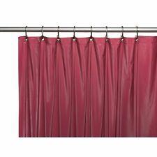 Carnation 4 Gauge Vinyl Shower Curtain Liner Weighted Grommet Burgundy 72x72