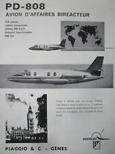 10/1963 PUB PIAGGIO DOUGLAS PD-808 BUSINESS AIRCRAFT AVION ORIGINAL FRENCH AD
