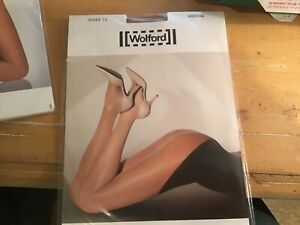 WOLFORD  Sheer 15 seamless tights sand color sz medium  NEW in pkg