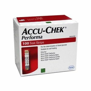 Accu Chek Performa 100 Test strips Blood Glucose Test Strips Expiry: 31-DEC-2021