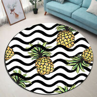 Pineapple Home Decor Rugs Yoga Area Rug Bedroom Carpet Kids Play Round Floor Mat