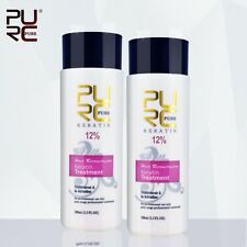 PURE Brazilian Keratin Treatment 12 % Repair Damaged Hair Make Smoothing 2*100ml