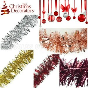 3 X Xmas Tree Decoration 2M Tinsel Red,Rose,Silver,Gold,Winter Berry,Garland