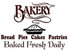 BAKERY BAKED FRESH DAILY Prim Country Farmhouse Vinyl Wall Decal Sticker 9x9