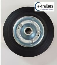 200mm Jockey Wheel - Replacement Steel Wheel for Trailer - Solid Rubber Tyre