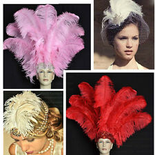 Red 1pcs 6-26inch Natural Ostrich Feathers Wedding Party Decoration DIY