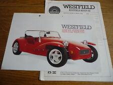 WESTFIELD SPORTS CARS LTD.SE & SEi SALES BROCHURE + 6 INFORMATION/PRICES SHEETS