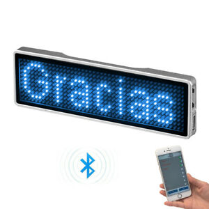 Rechargeable LED Programmable Digital Scrolling Name Badge Message Tags Sign UK
