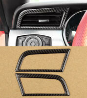 2pcs Carbon Fiber Air Conditioner Front Vent Trim For Ford Mustang 2015-2018