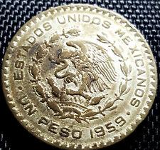 1959 Mexico (Estados Unidos Mexicanos) 1 Peso Silver Coin  (+FREE 1 coin) #D2323
