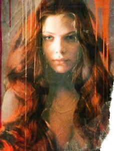 Motiv Ornella Muti Silbergebürstetes Alu 100x75 cm Pop Art/Bild/Poster/Druck