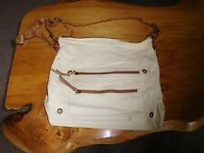 BHS LARGE HANDBAG  NATURAL WITH LOTS OF POCKETS