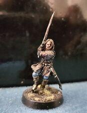 """CITTADELLA GamesWorkshop il signore degli anelli ben dipinti & basato """"Aragorn"""" IN METALLO FUORI CATALOGO"""