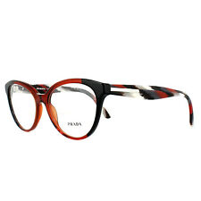 Prada Glasses Frames PR05UV VYO1O1 Black Bordeaux 52mm Women's