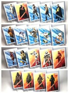 Star Wars: The Rise of Skywalker Trading card Illustrated Characters Set 2019