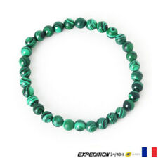 Bracelet Perle Malachite Pierre Naturelle Protection Lithothérapie 6 mm