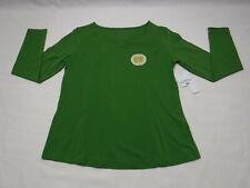 Riders by Lee Womens Size Medium V-Neck Long Sleeve Tee Shirt Green New