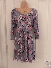 Fat Face Scoop Neck Short/Mini 3/4 Sleeve Dresses for Women