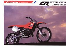 1990 HONDA  CR500RL CR250 CR125 CR80  6 Page Motorcycle Brochure NCS