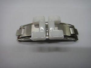 S/ Steel buckle clasp (fits) Chanel J12 ceramic bracelet band strap men lady