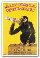 BAR PRINT Anisetta Evangelisti Liquore da Dessert Carlo Biscaretti MONKEY Poster