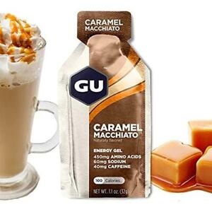 GU Energy Original Sports Nutrition Energy Gel, 24-Count, Caramel Macchiato