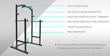 Power Cage Squat Rack Weights Bench Press - Boxing Punching & Kicking - Chin up