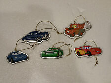 Hallmark Disney Cars 5-Piece Holiday Ornament Set Christmas Mater Doc McQueen