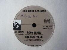 """FRANKIE VALLI... BOOMERANG... private STOCK PROMO 10"""" DISCO Funk Soul RECORD"""