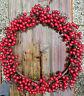 Beerenkranz Kranz 34cm Rot Herbst Wandkranz Äste Drahtreif Früchte Beeren Winter