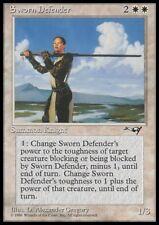 Mtg 1x sworn defender-alliances * rare Knight NM *