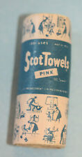 *Vintage 1950's Pink Scotowels In A Roll-150 Count- By Merry Mfg- Excellent