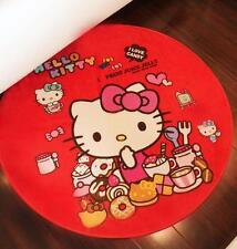 "New Cute Hello Kitty 35"" Bedroom Bathroom Round Doormat Bath Mat Rug Pad Carpet"