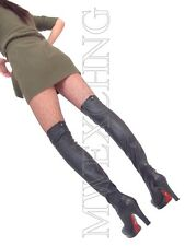 Cesare Paciotti Stretch Thigh High Overknee Boots EU 36 Italian Womens Shoes
