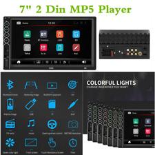 "Universal Bluetooth Car Radio Stereo MP5 reproductor multimedia 7"" HD 2 DIN unidad principal"