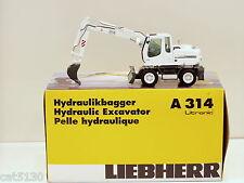 "Liebherr 314 Excavator - ""WHITE"" - 1/50 - NZG #498.11 - MIB"