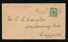 MALAYA KEDAH SUNGEI PATIANI to CANADA 1923 PRINTED PAPER RATE 2c