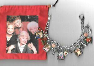 GOLDEN GIRLS Inspired Charm Bracelet    Handmade    Gift Bag  Altered Art