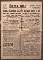 N175 La Une Du Journal Paris-soir 5 Juillet 1940