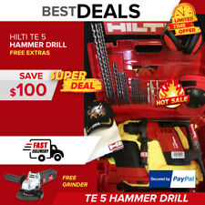 Hilti Te 5 Drill With Drs Free Angle Grinder Made In Germanycomplete Fast Ship