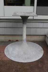 Vintage MCM Tulip Table Cast Aluminum Base Eero Saarinen Era