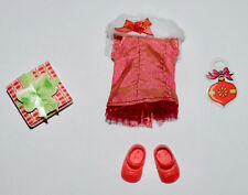 KELLY DOLL CLOTHES * RED HOLIDAY DRESS w/RED MARY JANE SHOES * CHRISTMAS