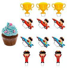 Formel F1 eßbar Muffin-Aufleger Torten-Bild Party Deko Geburtstag Pokal Cupcake