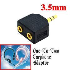 3.5mm Headphone Male Stereo Jack to 2 x Female Socket Y Splitter Audio Adapter A