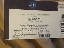 Barry Manilow Tickets for the 02 Arena London Thursday 6th September