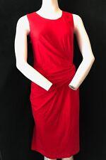 DKNY Women's Red Rayon Sleeveless Mock Wrap Dress Size M Designer Fashion Cheap