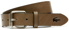 CINTURA LACOSTE PELLE VITELLO OPACA Leather Belt rc9009-kaki