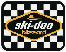 "#627(1) 3.5"" Ski-Doo Blizzard REPRODUCTION Retro Vintage Vinyl Decal LAMINATED21"