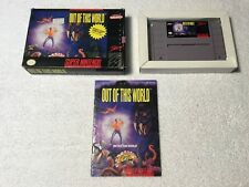 Out Of This World / Another For The Super Nintendo Boxed Complete SNES NTSC USA